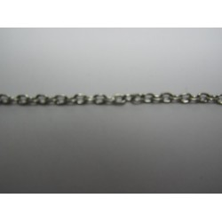 Oval Chain Platinum Color Plated 2,5x3,5 mm - Piece of about 48-50 cm