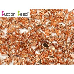 Perline Button Bead 4 mm Crystal Capri Gold -  20 Pz