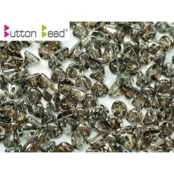 Perline Button Bead 4 mm Crystal Chrome -  20 Pz