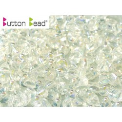 Perline Button Bead 4 mm Crystal AB - 20 Pz
