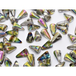Spikes  5x8  mm Crystal Vitrail -  20 pcs