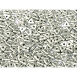 Perline Tri-Bead  4 mm Aluminium Silver  - 5  g