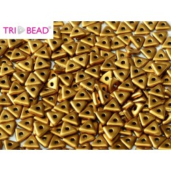 Tri- Bead  4 mm Brass Gold  - 5  g