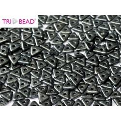 Tri- Bead  4 mm  Jet Hematite - 5  g