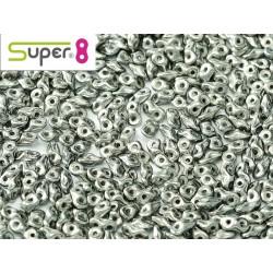 Super8® 2,2 x 4,7 mm Chalk White Full Chrome - 5 g