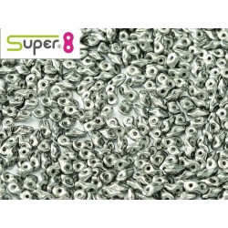 Super8® 2,2 x 4,7 mm   Chalk White Full  Chrome - 5  g
