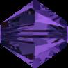 Bicono Swarovski 5328 6 mm Purple Velvet - 10 pz