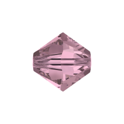 Bicono Swarovski 5328  6 mm Crystal Antique Pink  - 40 pz