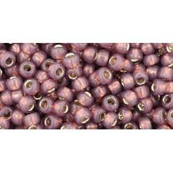 Rocailles Toho 8/0 Silver-Lined Milky Nutmeg