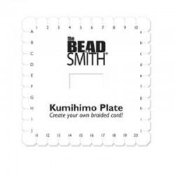 "Kumihimo  Square Plate  15 cm (6"") - 1 pc"