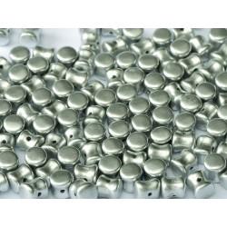 Diabolo Shape Beads  6x4 mm  Aluminium Silver -  30 pz
