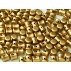 Diabolo Shape Beads  6x4 mm  Aztec Gold -  30 pz