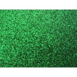 Foglio Mousse Gomma Crepla 20x30 cm Verde Glitter - 1 pz