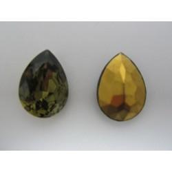 Cabochon Goccia Sfaccettata 25x18 mm Black Diamond  - 1 pz