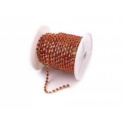 Catena Strass 3,5 mm Color Oro/Hyacinth - 1 m