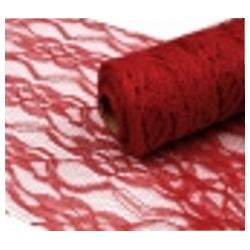 Decorative Lace Width 15 cm  Dark Red -   1 m