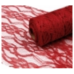 Pizzo Larghezza 15 cm Rosso Scuro - 1 m