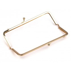 Handbag Fastening 7x18 cm, Gold Color Plated - 1 pc