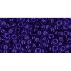 Rocailles Toho 8/0 Transparent Cobalt