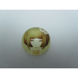 Round Glass Cabochon 25 mm Cartoon Pattern - 1 pcs