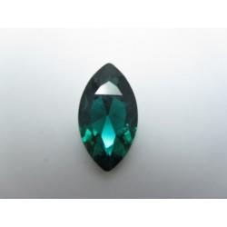 Cabochon Navetta Sfaccettata 17x32 mm Emerald 1 pz