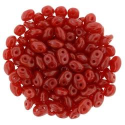 Superduo 2,5x5 mm   Opal Red  -  10 g
