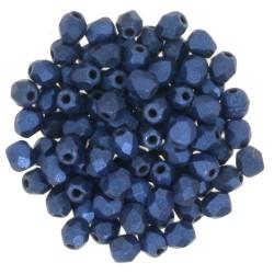 Mezzo Cristallo  3 mm  Metallic Suede Blue  - 50  Pz