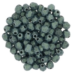 Mezzo Cristallo  3 mm  Metallic Suede Lt. Green  - 50  Pz