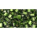 Toho Cubes 3 mm Silver-Lined Olivine
