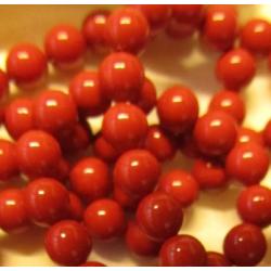 Swarovski  Pearls 5810  6 mm  Red Coral  Pearl - 10  Pcs