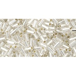 Toho Bugles 3 mm Silver-Lined Crystal