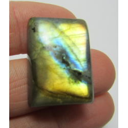 Natural  Labradorite Rectangular Cabochon  25 x 18   mm - 1 pc