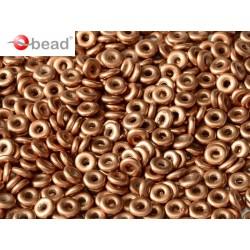 O Bead  4 mm Vintage Copper  - 5  g