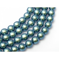 Glass Pearls  2 mm  Blue/Green   - 50 pcs