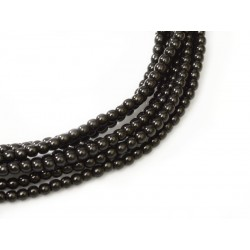 Glass Pearls  2 mm  Black   - 50 pcs