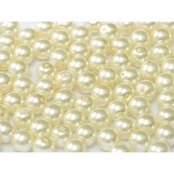 Perle Cerate in Vetro  4 mm  Cream  - 50  Pz