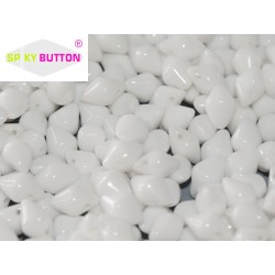 Spiky Button®  4,5x6,5 mm Chalk White  -  20 Pz