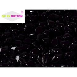 Spiky Button®  4,5x6,5 mm  Jet -  20 pcs