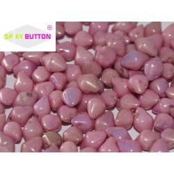Spiky Button®  4,5x6,5 mm  Chalk White Lila Luster  -  20 pcs