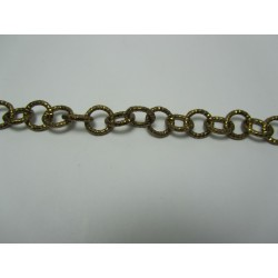 Round Aluminium Chain Diamond Cut 12 mm Bronze Colour - 1 m