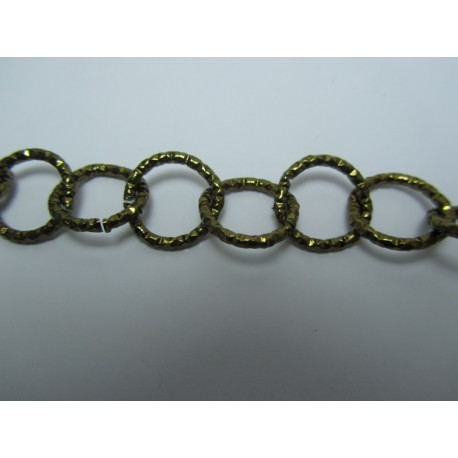 Round Aluminium Chain Diamond Cut 16 mm Dark Bronze Colour - 1 m