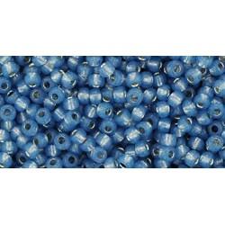Toho Round 11/0 Silver-Lined Milky Montana Blue