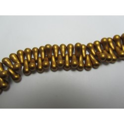 Bulb Beads  5x10 mm  Metallic Brass  -  20 Pz