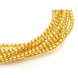 Glass Pearls  4 mm Light Gold   - 50 pcs