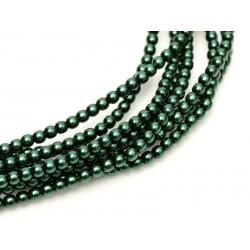 Perle Cerate in Vetro  4 mm Deep Emerald  - 50  Pz