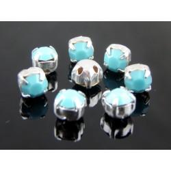 Chatons incastonati ss16  (3,8-4 mm)  Turquoise -  10 pz