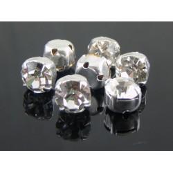 Chatons incastonati ss30  (6,4-6,60 mm)  Crystal  -  5 pz