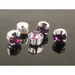 Chatons incastonati ss30  (6,4-6,60 mm)  Dark Orchid  -  5 pz
