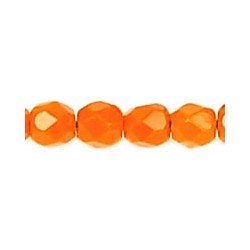 Fire Polished Faceted Round Beads  3 mm Opaque Orange  - 50 pcs