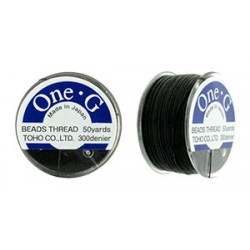 Toho One- G  Thread Black - 1 Spool about   46 m